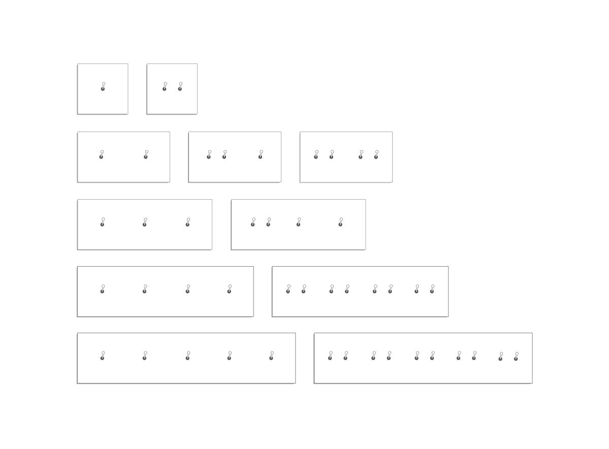 SYDNEY - Combinazioni interruttori